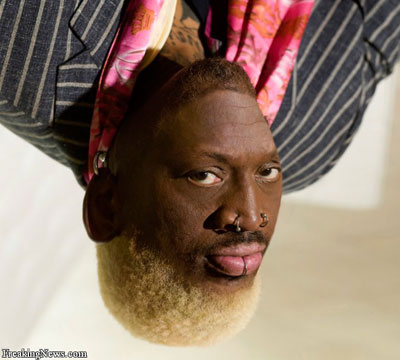 Dennis Rodman....UPSIDE DOWN